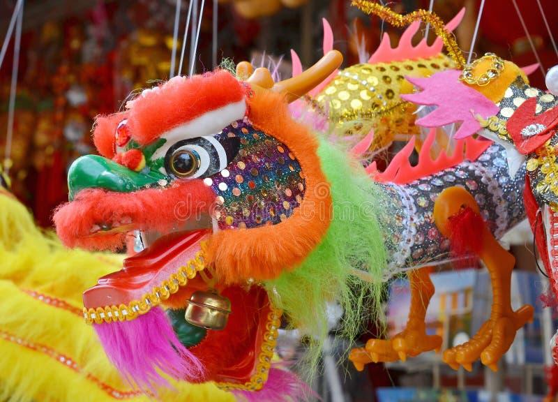 Jouet chinois de dragon images libres de droits