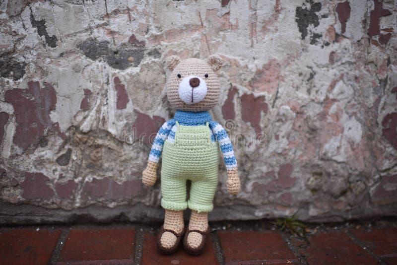 Jouet d'Amigurumi Teddy images stock