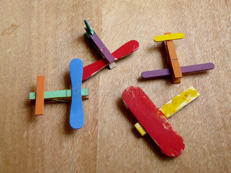 Jouet d'avion de DIY images libres de droits