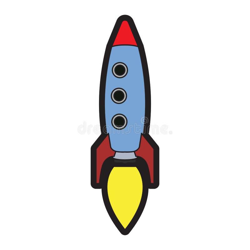 Jouet d'isolement de fusée illustration de vecteur