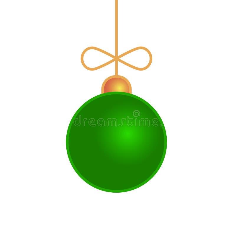 Jouet de boule de Joyeux Noël d'isolement sur le blanc illustration stock