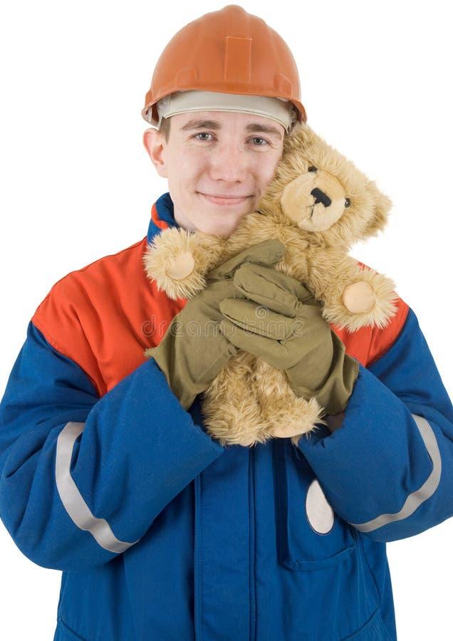 jouet de constructeur d'ours images stock