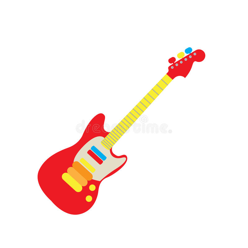 Jouet de guitare illustration de vecteur