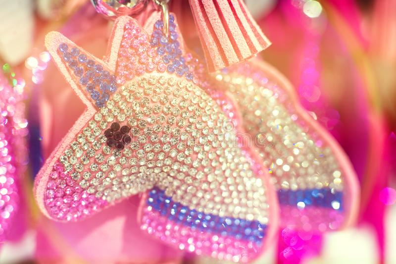 Jouet de keychain de licorne d'étincelles à vendre photo stock