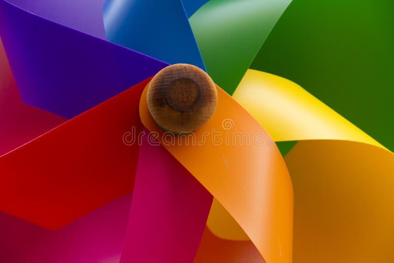 Jouet de moulin à vent photo stock
