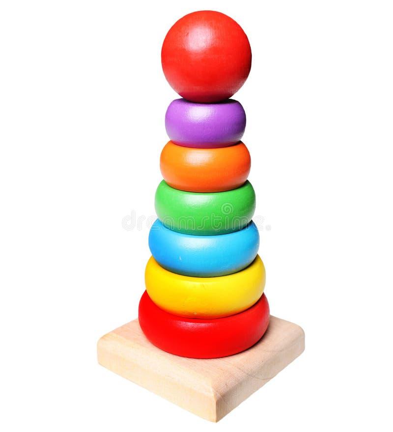 jouet de pyramide d'isolement sur le fond blanc image stock