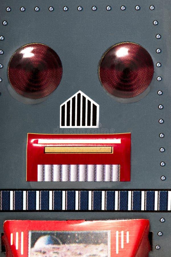 Jouet de robot de bidon de vintage images libres de droits