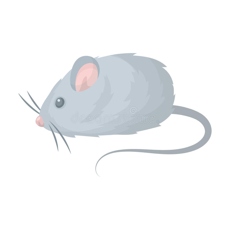 Jouet de souris Icône simple de magasin de bêtes en Web d'illustration d'actions de symbole de vecteur de style de bande dessinée illustration stock