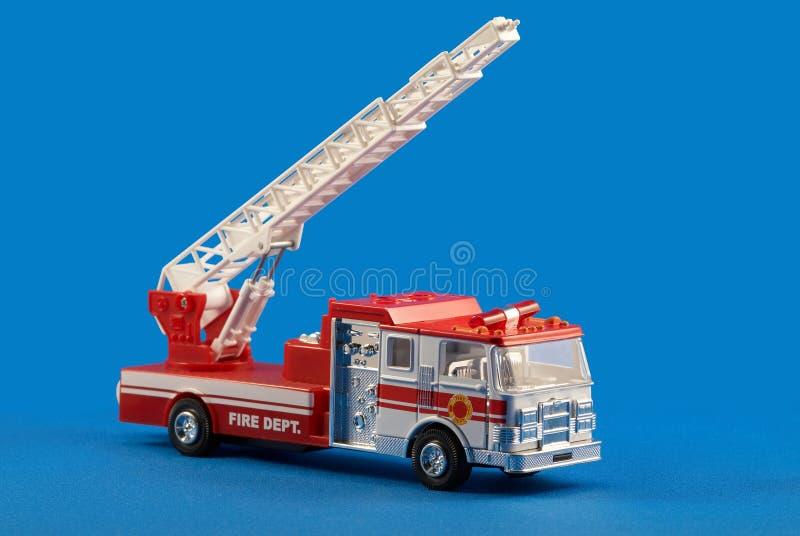 Jouet de véhicule de service d'incendie photographie stock libre de droits