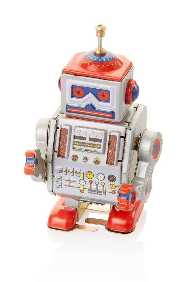 Jouet de vintage de robot images stock