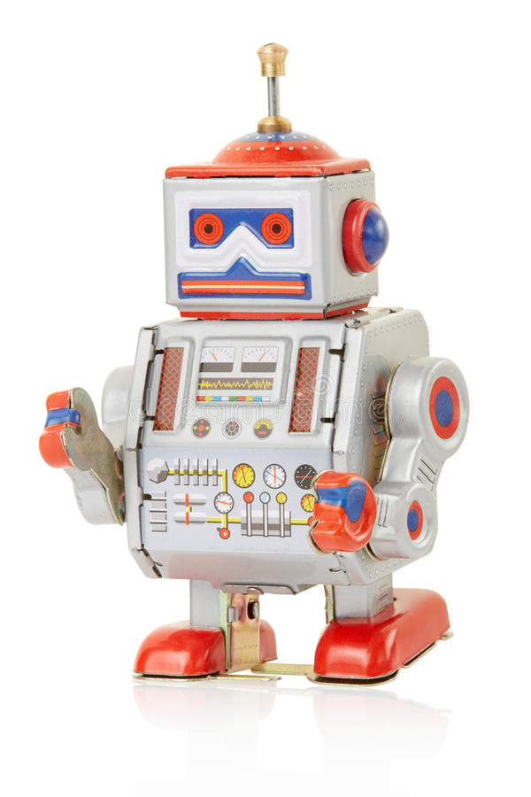 Jouet de vintage de robot image stock