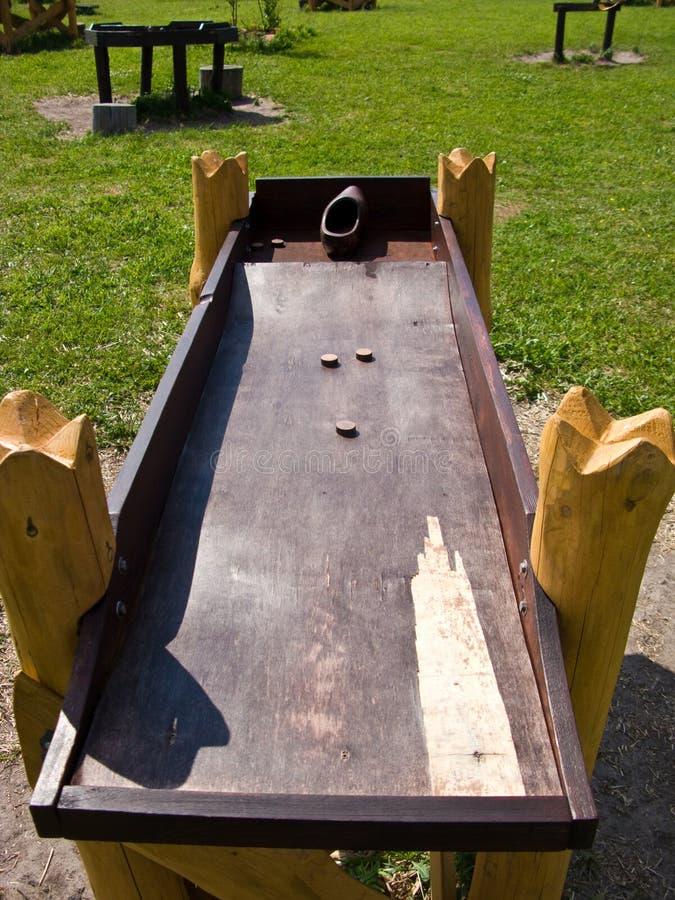 Jouet en bois antique image stock