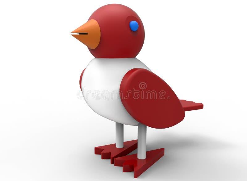 Jouet en bois d'oiseau illustration libre de droits