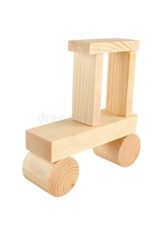 Jouet en bois de véhicule images libres de droits