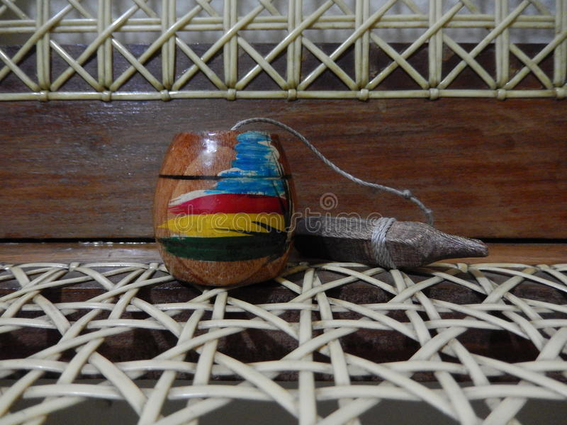 Jouet en bois fait main images libres de droits