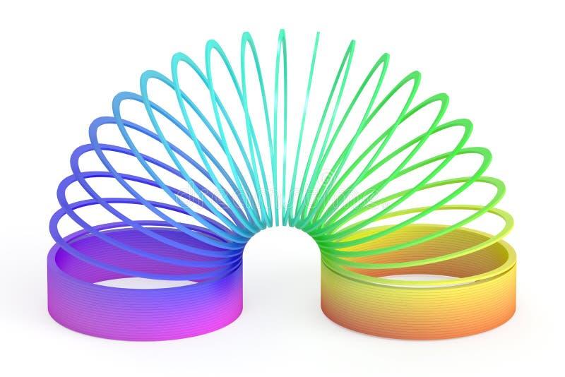 Jouet en plastique coloré par arc-en-ciel, rendu 3D illustration libre de droits
