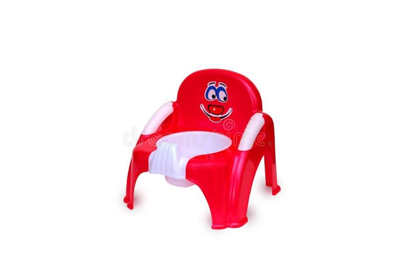 Jouet en plastique de chaise de pot photographie stock libre de droits
