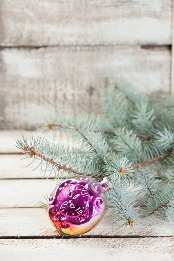 Jouet en verre de Noël-arbre de vintage photographie stock libre de droits