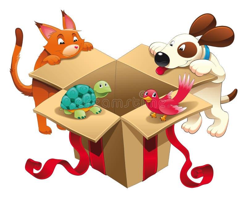 Jouet et animaux familiers illustration libre de droits