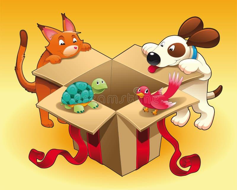 Jouet et animaux familiers illustration de vecteur