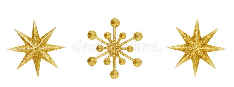 Jouets accrochants de Noël de décoration d'étoile de flocon de neige de Noël images stock