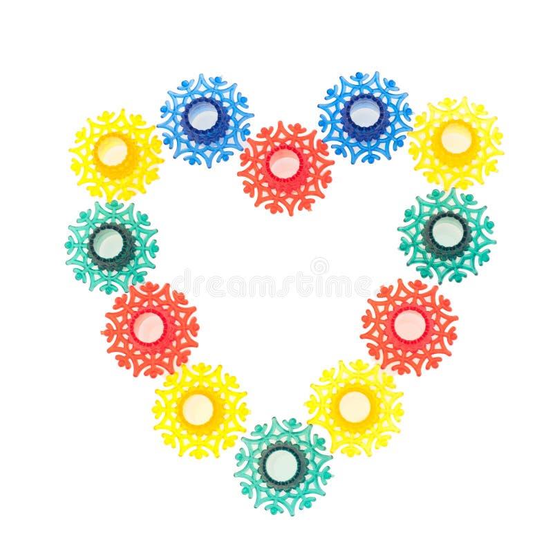 Jouets colorés de flocons de neige de la guirlande illustration libre de droits