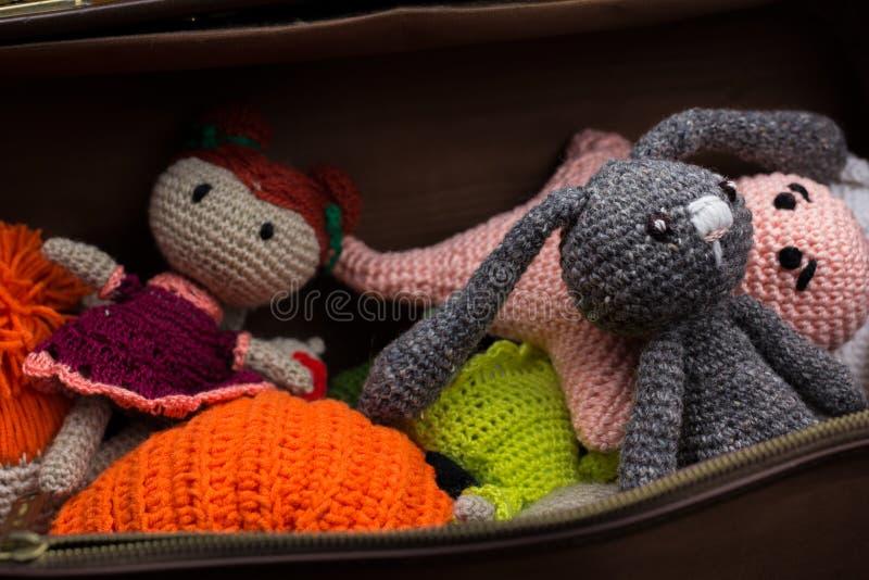 Jouets de laine au cas où photos libres de droits