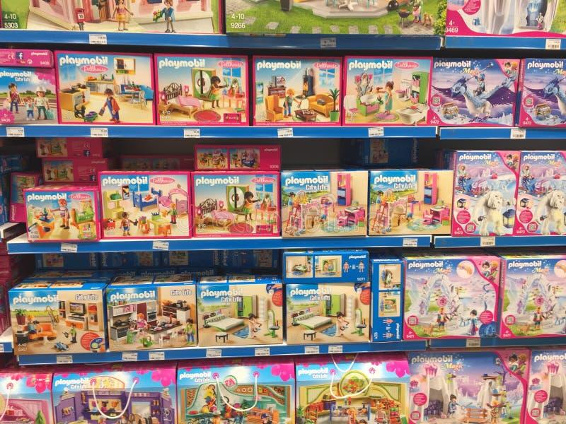 Jouets de Playmobil à vendre photo stock