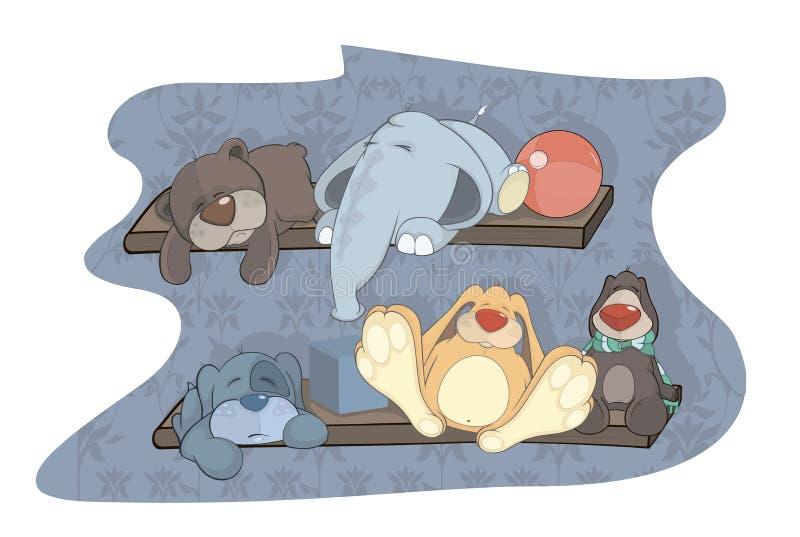 Jouets de sommeil illustration de vecteur