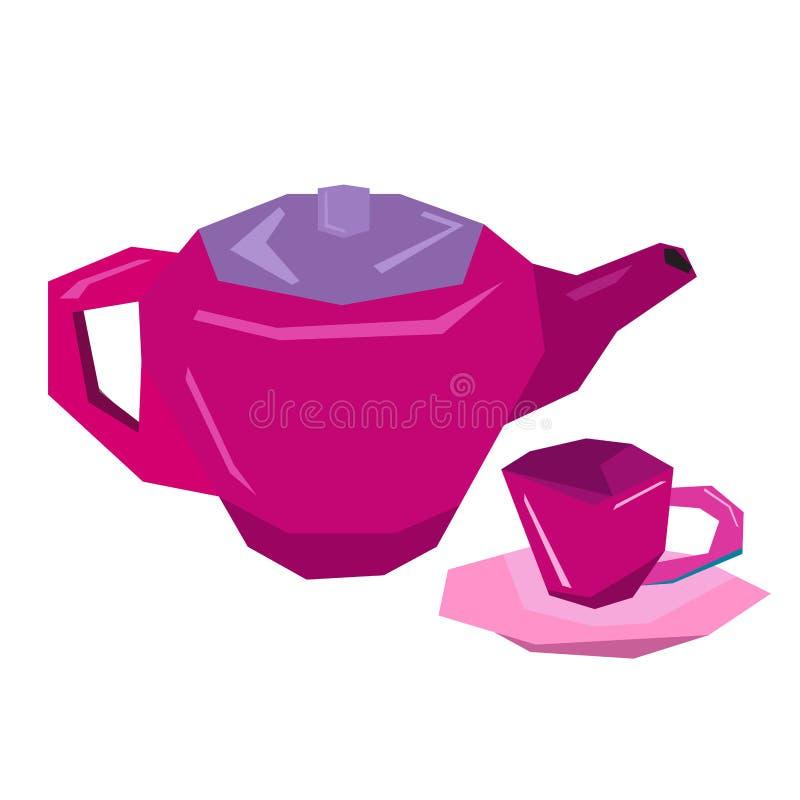 jouets de thé illustration de vecteur