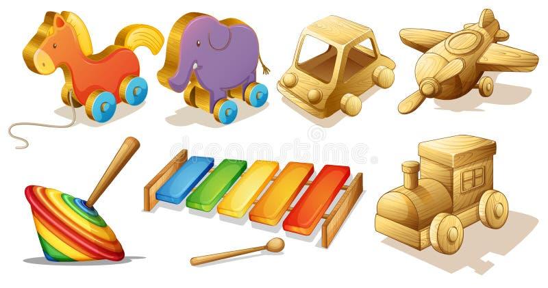 Jouets en bois illustration libre de droits