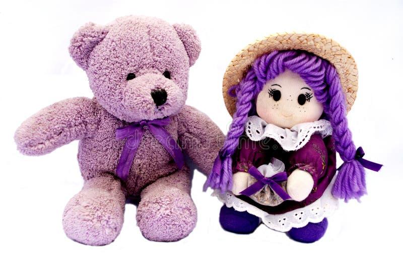 Jouets français dans la violette image stock