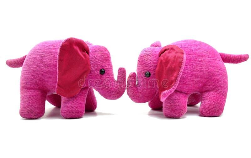 Jouets mignons d'éléphant rose image stock