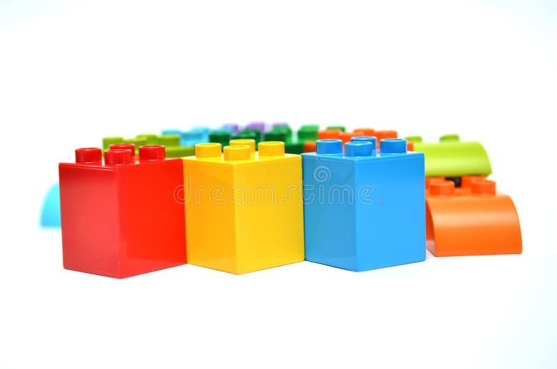 Jouets pour se réunir coloré images stock