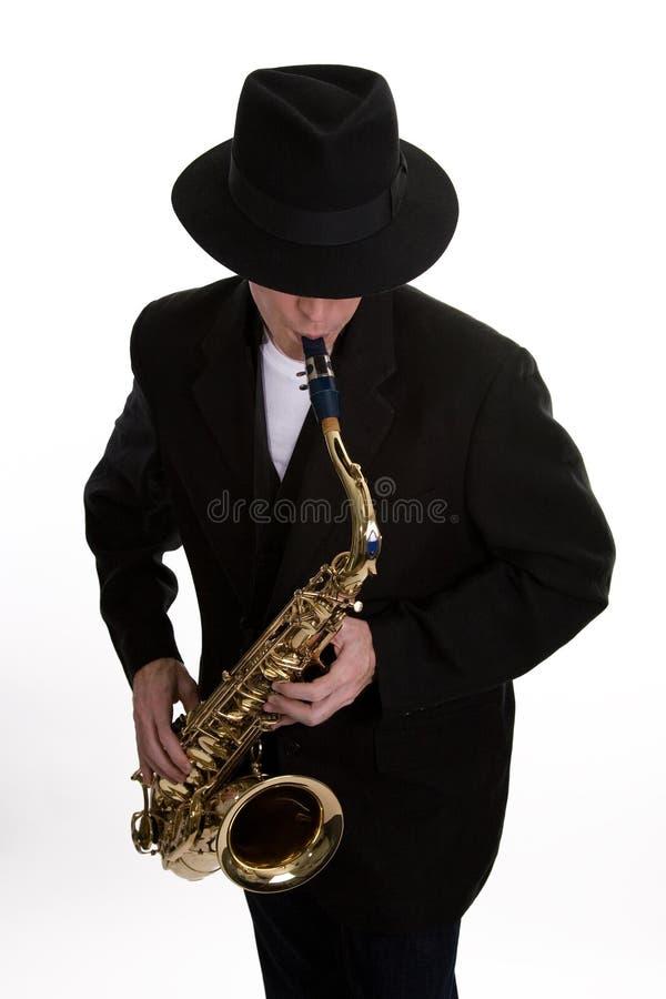 Joueur 2 de saxo image libre de droits