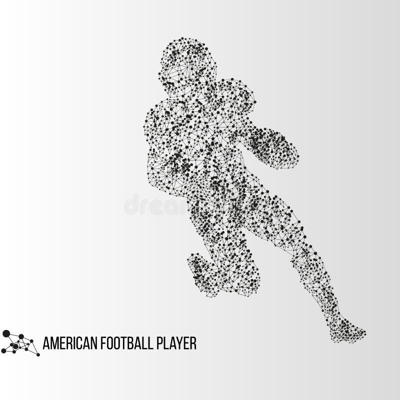 Joueur abstrait de football américain photo stock