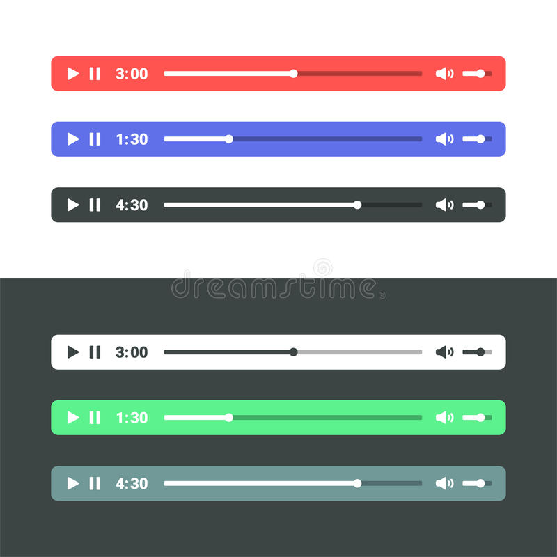 Joueur audio illustration de vecteur