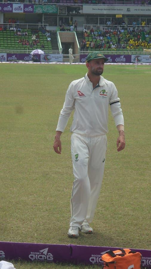 Joueur australien élégant de cricket photos libres de droits