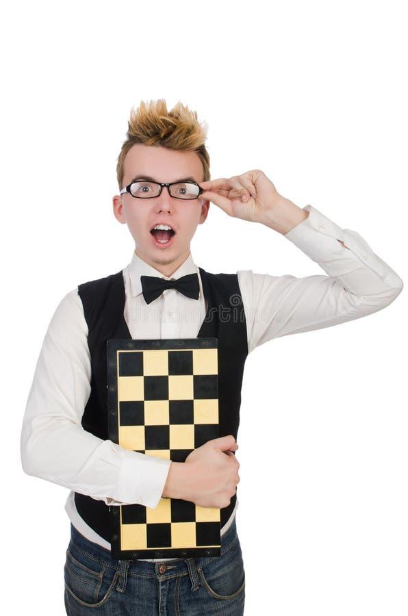 Joueur d'échecs drôle photos stock