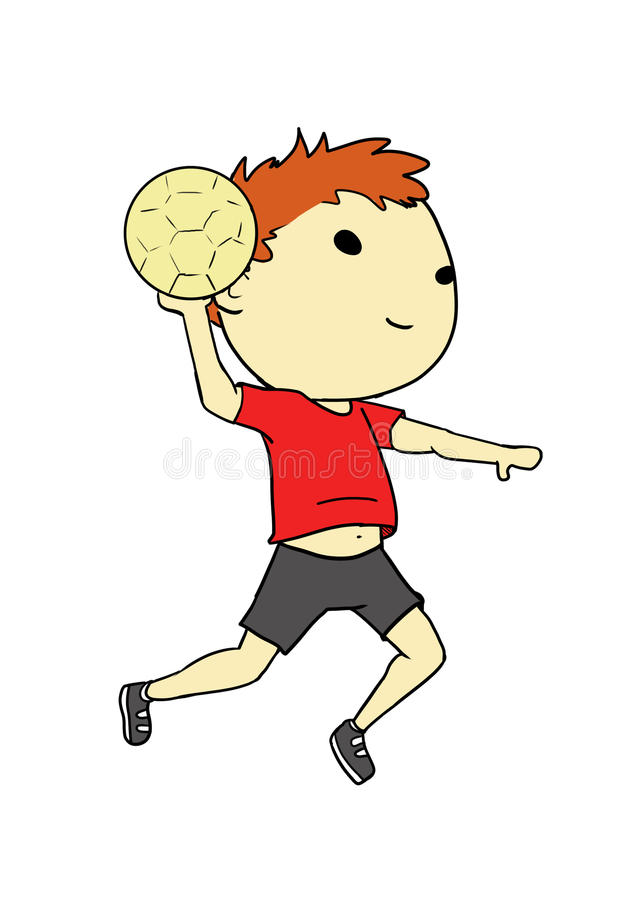 joueur d'Athlète-handball images stock
