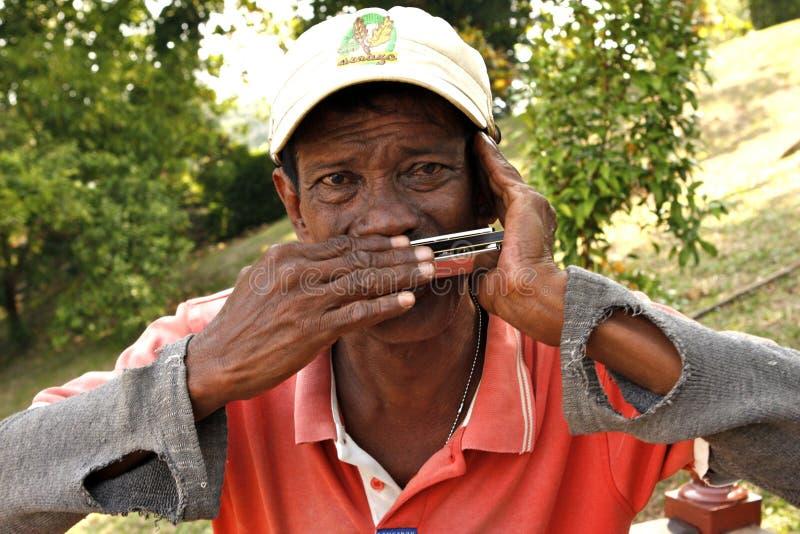 Joueur d'harmonica photographie stock