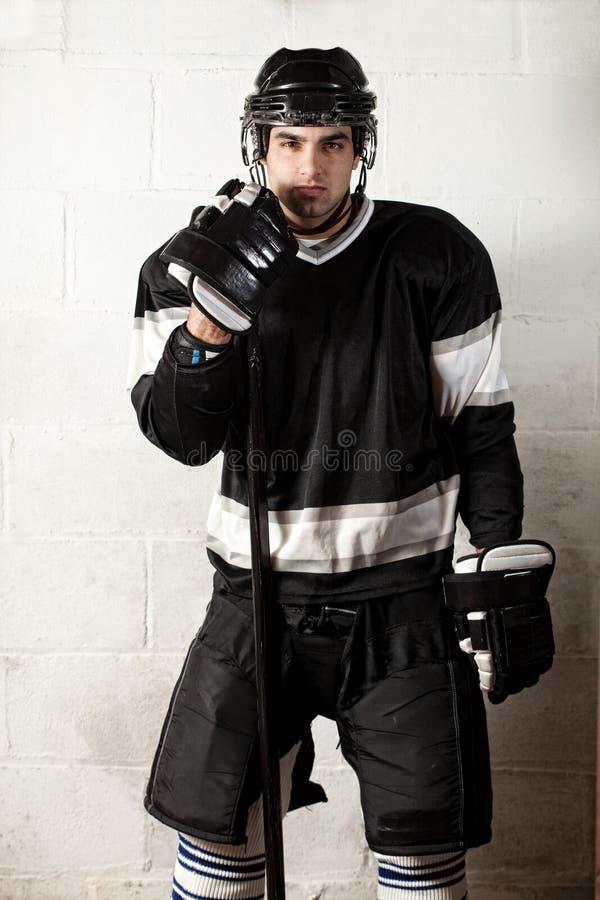 Joueur d'hockey photographie stock