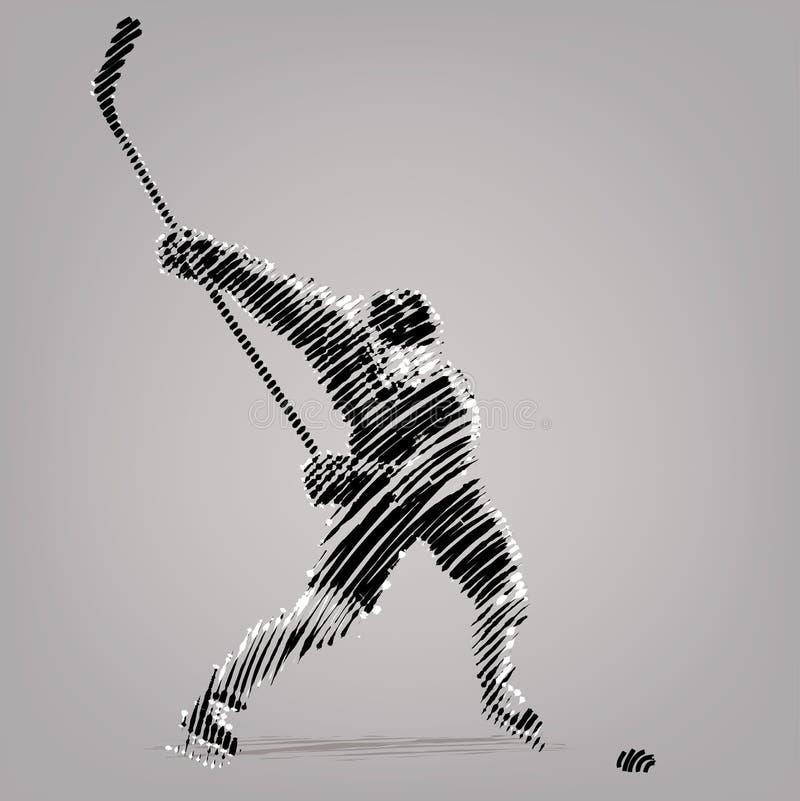 Joueur d'hockey illustration de vecteur