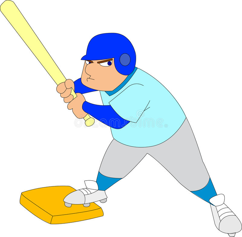 Joueur de baseball illustration stock
