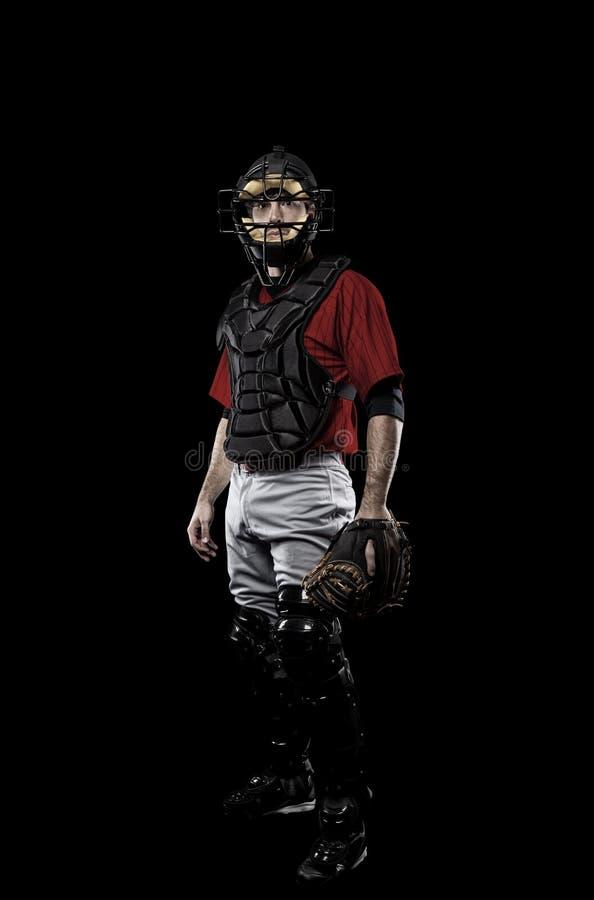 Joueur de baseball de receveur photographie stock
