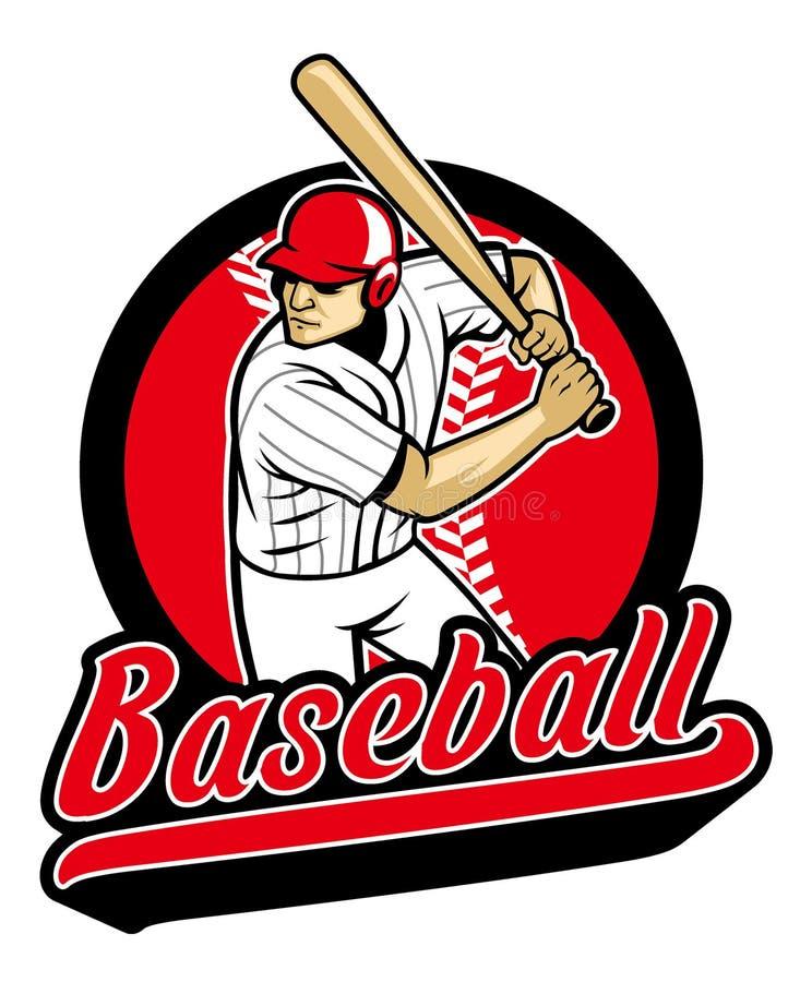 Joueur de baseball prêt à frapper illustration de vecteur