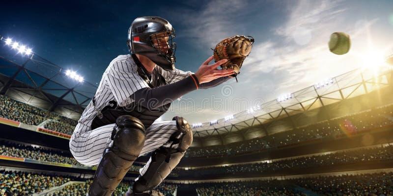 Joueur de baseball professionnel dans l'action images libres de droits