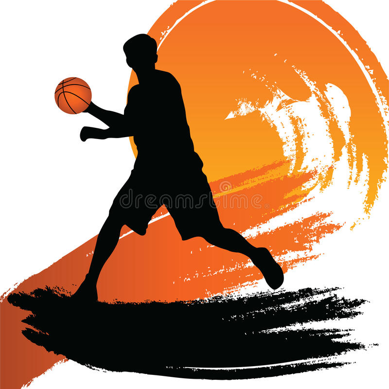 Joueur de basket illustration de vecteur