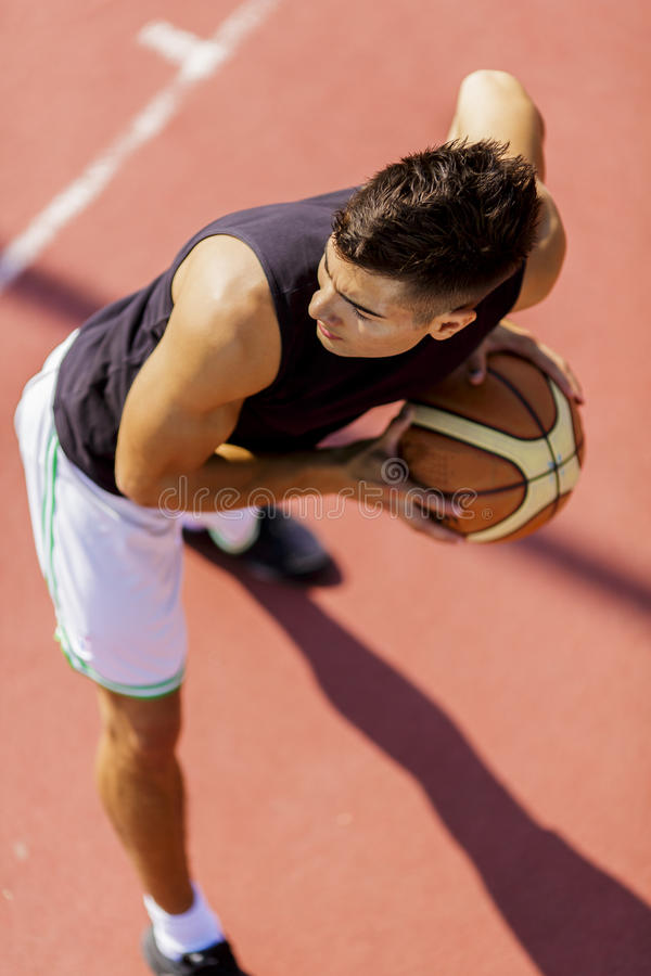 Joueur de basket photos stock