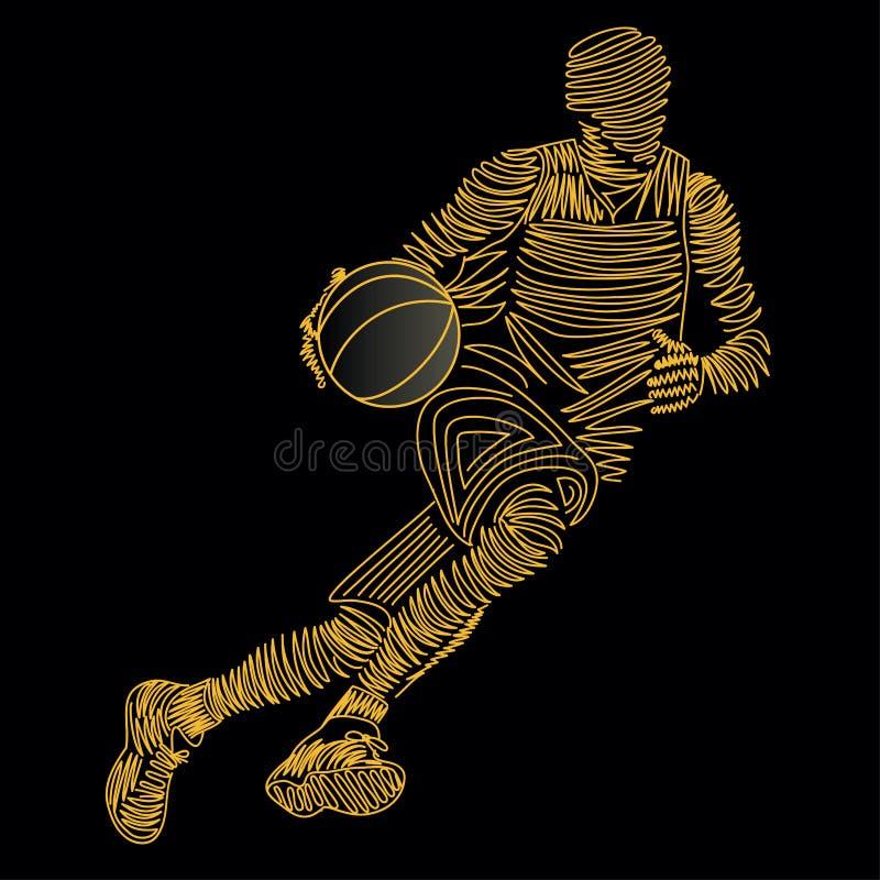 Joueur de basket illustration libre de droits